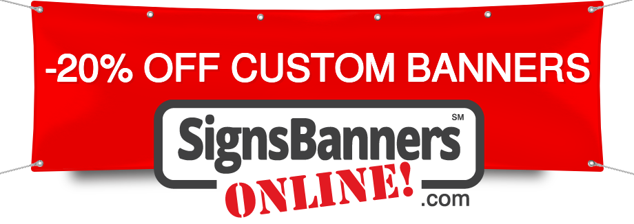 September 10% OFF Custom Banners by Signs Banners Online